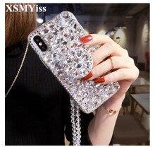 Coque de téléphone luxe Bling cristal diamants 3D pierres support couverture arrière souple pour Huawei P20 P30 P40 Lite Plus Mate 20 30 Lite Pro