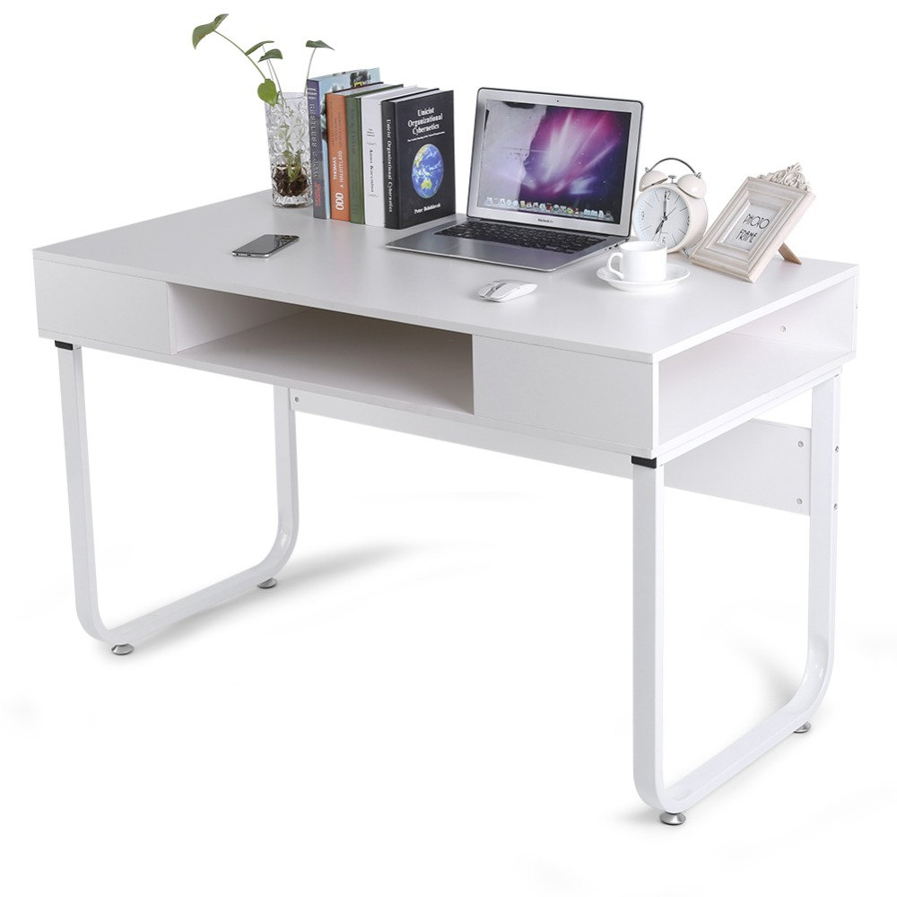 Modern Home Office Computer Laptop Desk Table with Storage Drawer Mouse and Keyboard Stand Holder for Home Office Study