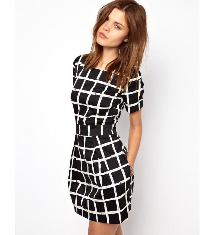 2018 High Quality Plain Dresses Women O Neck Short Sleeve Women Dress Plus Size 2018 Summer Waisted Slim Dress