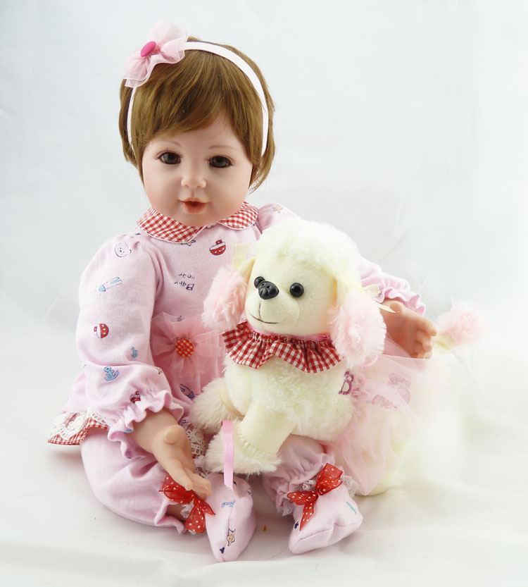 NPKDOLL Reborn Baby Doll Vinyl Silicone 20inch Babies  alive reborn Doll, Lifelike Express Toys Girl for Children Gift lifelike american 18 inches girl doll prices toy for children vinyl princess doll toys girl newest design