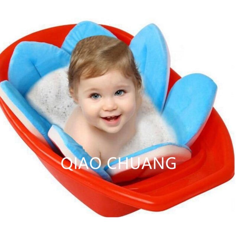 9colour Baby Shower Bambino Bagno Pad Non-slip Creative Breve Peluche Petals Bath Infant Bath Tub Lotus Cuscino Grid Guard G662