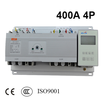 400A 4 polos 3 Fase 220 V/230 V/380 V/440 V nuevo patrón Transferencia Automática interruptor ATS con controlador inglés