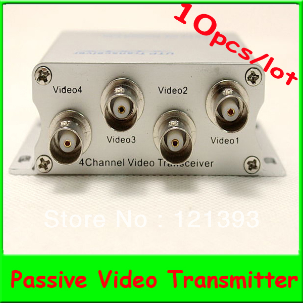 10pcs/lot 4CH UTP Passive Video Transmitter, Video Balun With 4 * BNC (Female) Connector transmission distance 1000feet