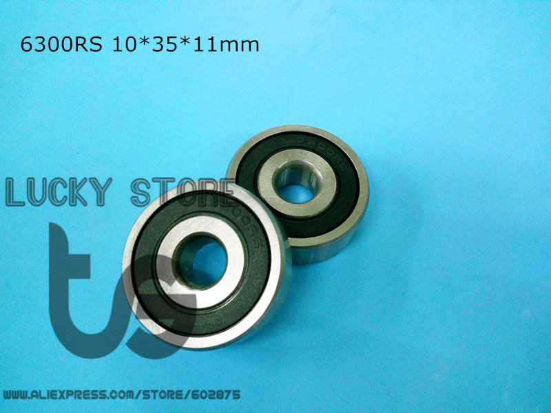 6300RS 10Piece bearing free shipping 6300 6300RS 10*35*11 mm chrome steel deep groove bearing