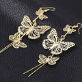 Fashion 2016 New Zinc Alloy Hot Rock Exaggerated Hollow Butterfly Earrings Female Wholesale