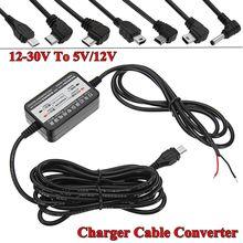 3.5mmm USB Gerade Power Inverter Links/Rechts Micro Usb-schnittstelle 12-30 v Zu 5 v 12 v konverter Kabel FÜR Auto DVR Kamera Adapter