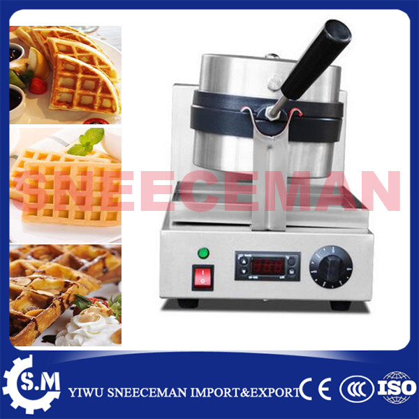 commercial one head electric rotary waffle furnace machine baking pan waffle maker machine cheaper plaid pie machine