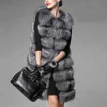 2016 Ladies Autumn and Winter Warm Faux Rabbit Fur Vest Coat Women's Plus Size Fake Fox Fur Sleeveless Waistcoat Jacket XS-3XL
