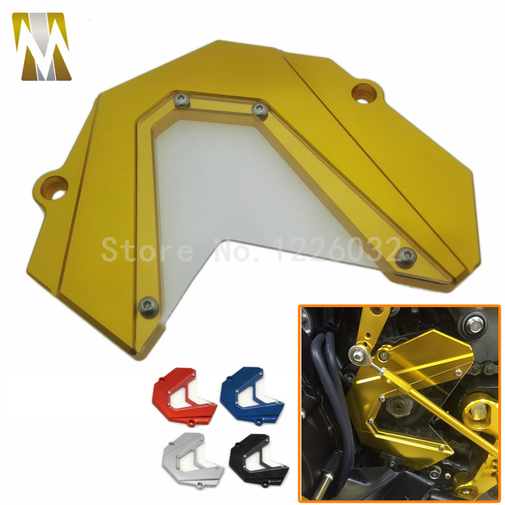 Golden Motorbike Motorcycle Front Chain Sprocket Cover For Yamaha MT-09 FZ9 MT09 2013 2014 2015 fit for MT 09 Tracer Accessories sep motorcycle accessories carbon fiber engine sprocket chain case cover clutch cover for yamaha mt09 fz09 tracer fj09 2014 2017