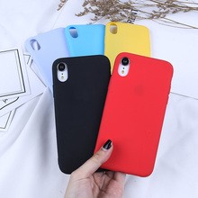 For iPhone X Case Candy Color TPU Case For iPhone XR XS MAX 6 6S 7 8 Plus 5 5S SE Luxury Coque Funda Rubber Silicone Back Cover цена и фото