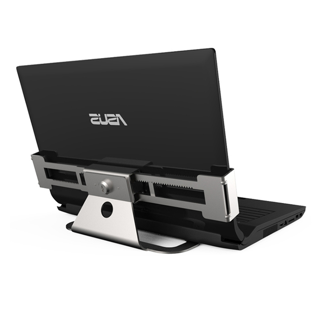 Metallic Stretch Laptop Security Display Stand Notebook Computer Desk Mount Anti Theft Lock For All