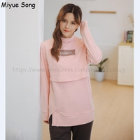 Maternity Nursing Tops Breastfeeding Clothes Cotton Breast Feeding Tops Pregnancy Shirt For Pregnant Women Clothing Mother