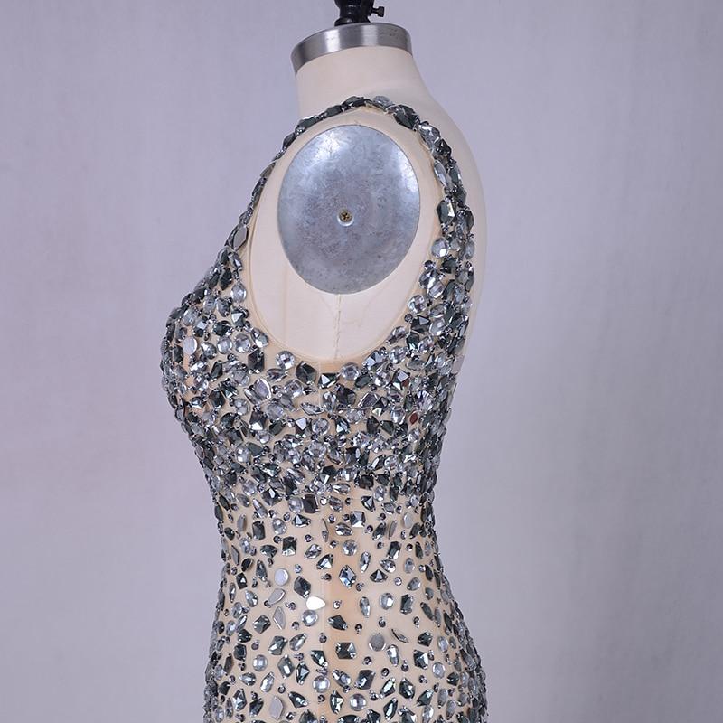 Lyxig kvällsklänning 2019 LORIE Silvergrå kristaller Beading Tulle - Särskilda tillfällen klänningar - Foto 3