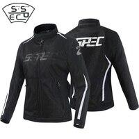 SSPEC Women's Motorcycle Jacket Suit Spring Summer Jacket Motocross Protective Gear Auto Breathable Mesh Racing Coat