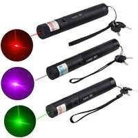650nm Laser Pointer Grün/Rot/Lila Einstellbarer Fokus Laser Stift Mini Taschenlampe Licht Militärische Sichtbar Licht Brennen Strahl licht