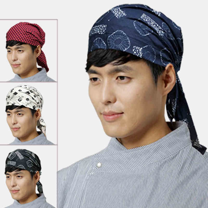 (10pcs lot)Men and women general Korean Japanese cuisine chef hat waiter  working cap baotou sushi cleaning turban The adjustable-in Berets from  Apparel ... 352b3534dc0