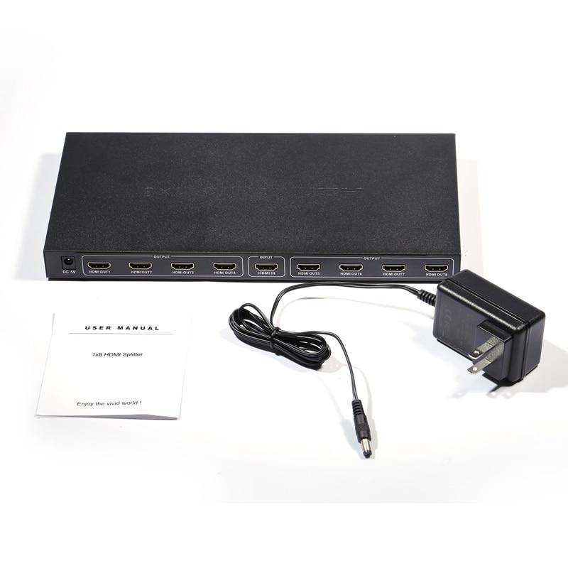 Répartiteur 3D 1080 p HD HDMI 4 K 1X8 commutateur prise en charge EDID HDCP pour HDTV PS3/4 ordinateur portable vidéo HDMI 1.4 commutateur adaptateur Hub