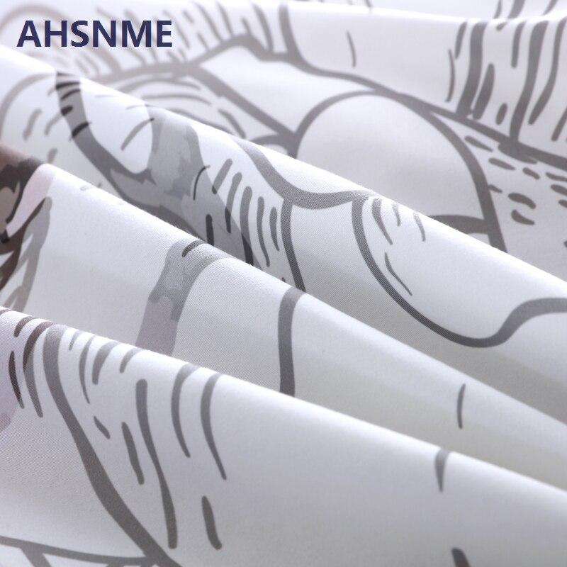 Image 3 - AHSNME Ink Painting Skull Duvet Cover Sets White Floral Bedding  Set Gentle Skeleton Comforter Cover Soft Fabric King Queenduvet cover  setbedding setfloral bedding sets