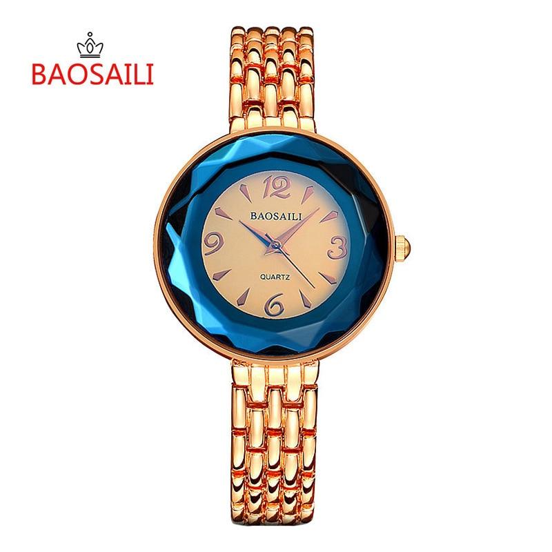 2018 New BAOSAILI Blue Gold Women Watch Dress Luxury Watches Fashion Creative Quartz Watch Minimalist Lady Bracelet watch 20