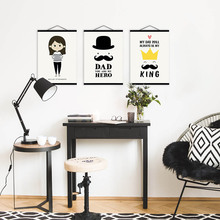 modern hippie father dad family love quotes wood framed nordic kids room wall art pictures poster