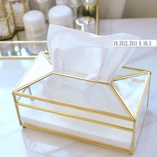 Creative Wipe Glass Tissue Box Restaurant Paper Towel Napkin Tissue Desktop Paper Storage Box Wet Wipe Case Tissue Paper 6ZJ083 мойка кухонная aquagranitex m 17 420х485 бежевый m 17 328