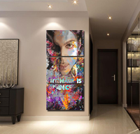 Canvas Printed Painting Pictures Artwork 3 Pieces Prince Poster Modern Wall Art Home Decorative For Living