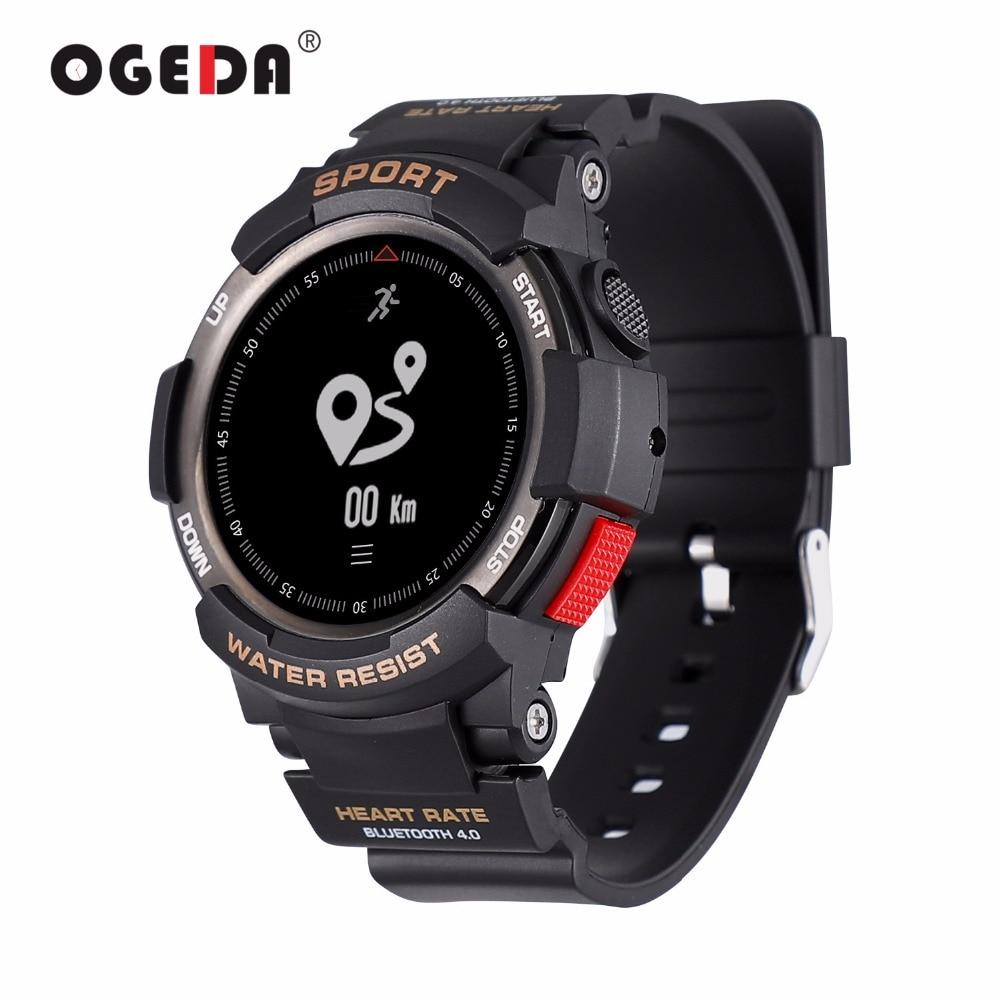 OGEDA F6 Smart Hommes Montre Sport Smartwatch Montre De Mode Hommes IP68 Sommeil Moniteur À Distance Caméra Dispositifs Portables pour iOS Android