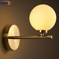 IWHD Modern Wall Light LED Creative Glass Ball Wall Lamp Iron Lamparas De pared Home Lighting Fixtures Stairs Bedroom Wandlamp