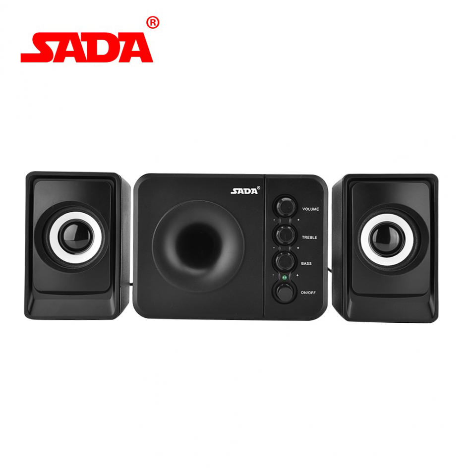 For Sada D-207 Mini Usb 2.1 Wired Subwoofer 3d Stereo Bass Speaker With Led Light For Pc Cellphone Laptop Reasonable Price Consumer Electronics