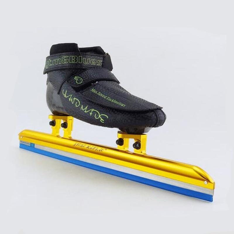 Adultes piste courte professionnel patins à roues alignées 350mm 380mm 410mm 430mm lame de glace 150mm 165mm montage Fiber de carbone Hyper Boot