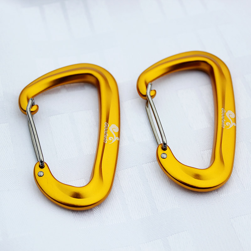 Aluminum Alloy D Shape Climbing Strong Carabiner Screw Lock Bottle Hook Buckle Hanging Padlock Keychain Camping Hiking Load 1.2T