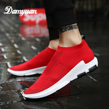 Damyuan 2019 new fashion shoes men Breathable sneaker Casual walking  Sports slip-on outdoor Canvas  Socks shoes