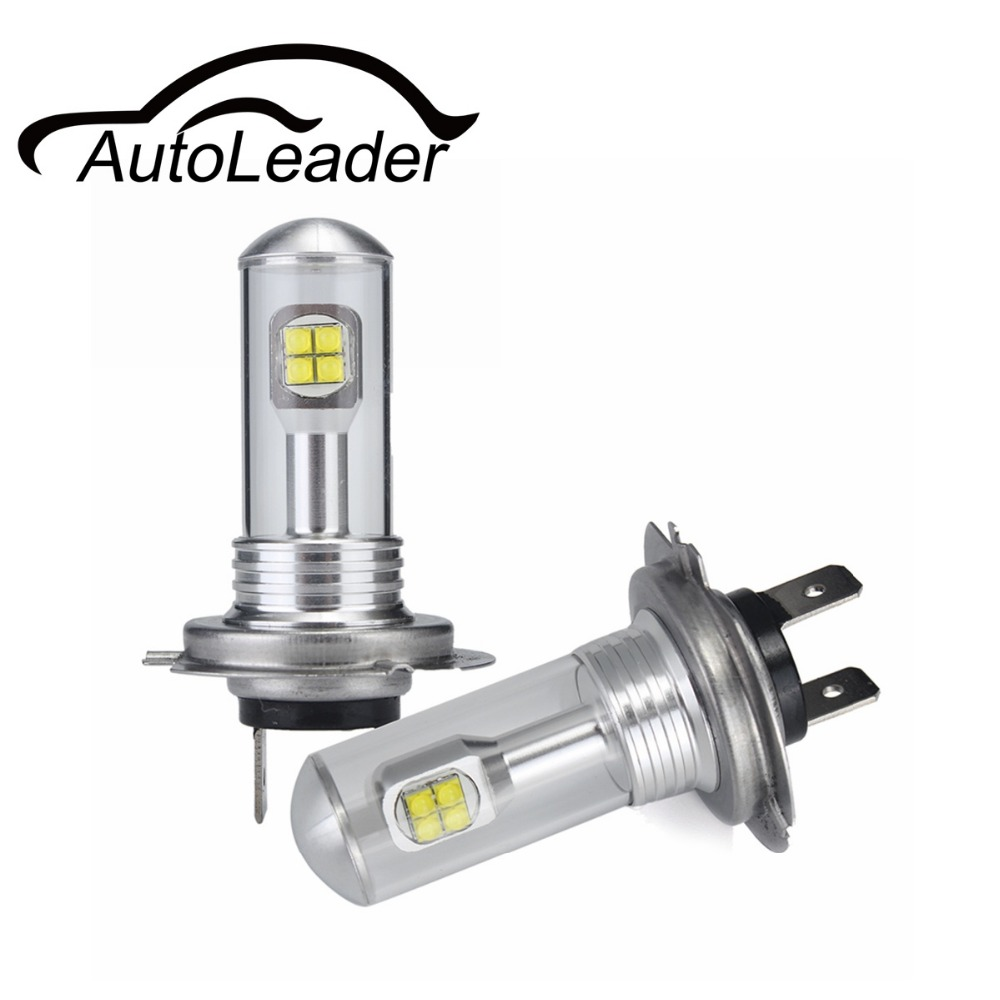 AutoLeader A18 H4 H7 H11 1Pair Fog Lamps Daytime Running Light Auto Car LED Lights H1 H3 H16 9005 9006 1500lm White 6000K 80W