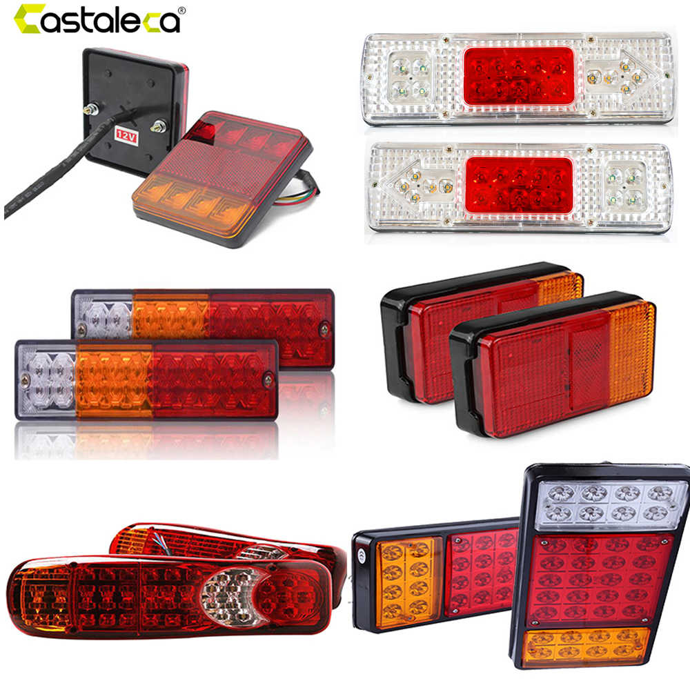Led Verlichting Camper 12v Castaleca 1 Pair 12v 24v Truck Trailer Rear Light Waterproof Camper Indicator Reverse Van Car Truck Taillight 8 19 20 30 36led