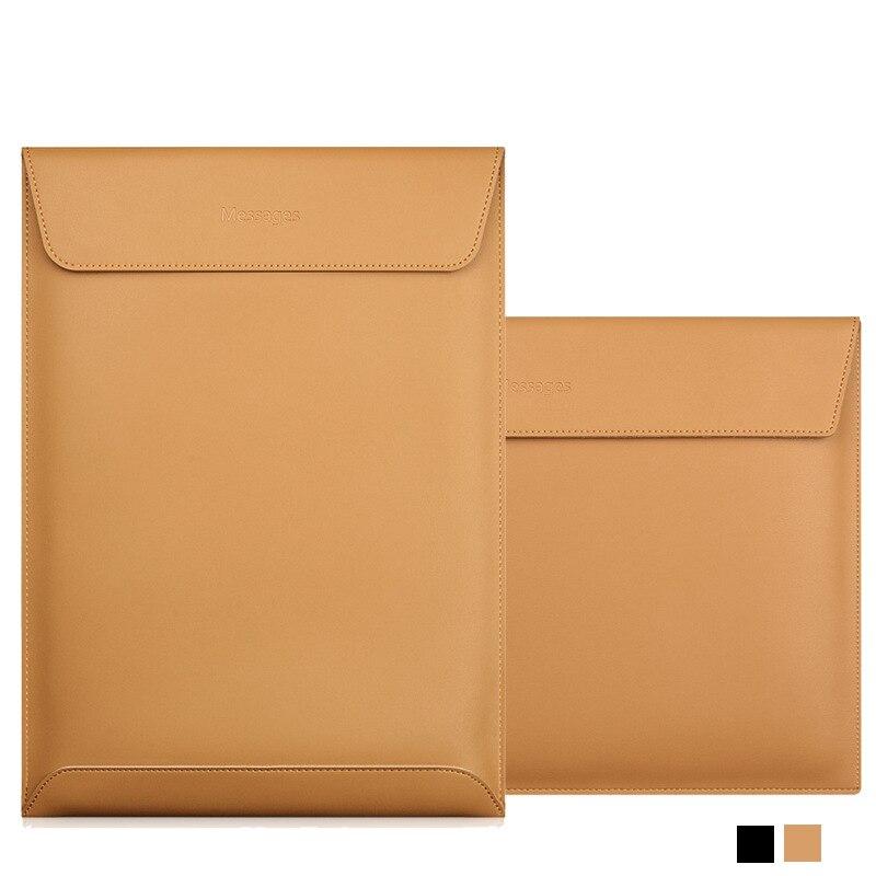 Pochette d'ordinateur en cuir véritable 13 étui pour macbook Air 11 12 13 15 Retina 13.3 15.4 pouces pochette mince pour ordinateur portable