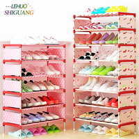 Shoe Rack Nonwovens Easy To Install Multi Layer Shoe Cabinet Shelf Storage Organizer Stand Holder Space