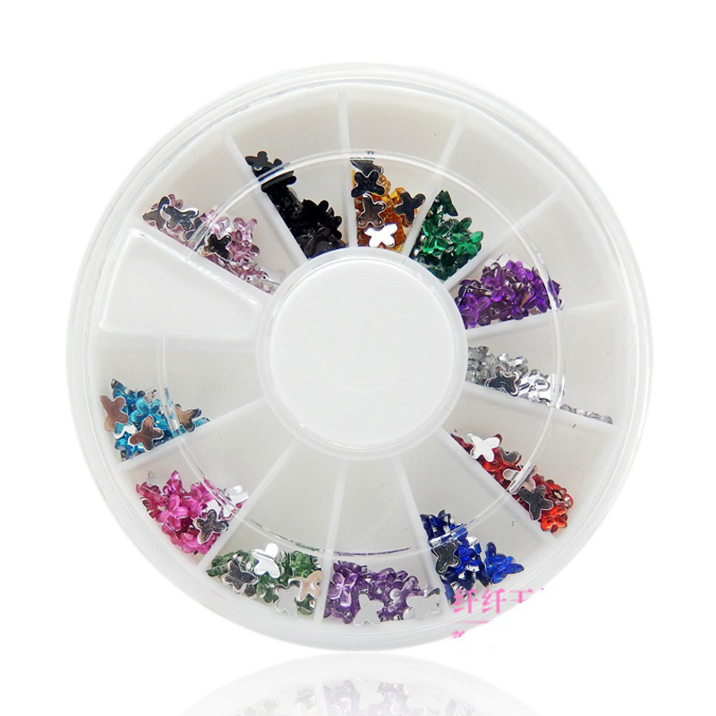 Nails Decorations New Arrive Fashion butterfly Nail Art Decorations DlY 3D Rhinestones For Nails Wholesale Nail Tools