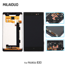 Original LCD Display For Nokia 830 RM-984 5.0'' Touch Screen Digitizer Sensor Glass with Frame Replacement Parts Assembly все цены