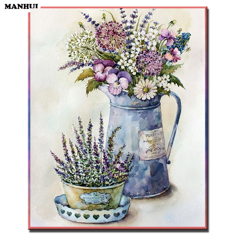 NEW Diy Diamond painting Vase picture  square drill full laid diamond embroidery beadwork pictures home decor MH106