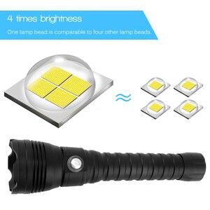 Image 4 - BORUiT A28 XHP70.2 LED Tauchen Taschenlampe Unterwasser 100 M Taschenlampe Max 100 00 lumen 4 Modus Dive Laterne dive durch 26650 Batterie