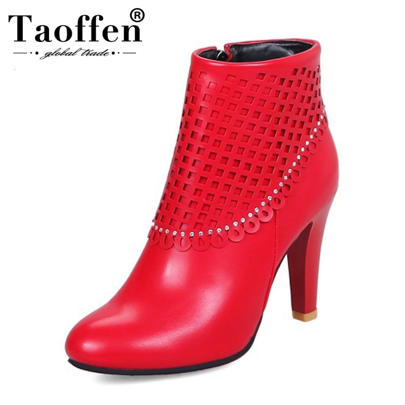 Big Size 34 48 Women Sexy Winter Boots Rhinestone Accessory High Heel Ankle Wedding Boots Round Toe Shoes Women Fur Footwear