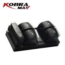 цена на KobraMax New Chrome Master Window Switch 4F0959851H Fits For AUDI A3 8P A4 S4 RS4 B6 B7 A6 S6 RS6 C6 Q7  Car Accessories