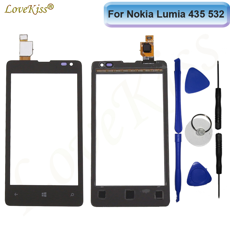 Touchscreen Touch Panel For Nokia Microsoft Lumia 435 532 N435 N532 Touch Screen Sensor LCD Display Digitizer Glass ReplacementTouchscreen Touch Panel For Nokia Microsoft Lumia 435 532 N435 N532 Touch Screen Sensor LCD Display Digitizer Glass Replacement