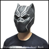 Halloween Party Cosplay Black Panther Masks Movie Fantastic Four Cosplay Men's Latex Party Mask Famous Film Face Head Mask Toys