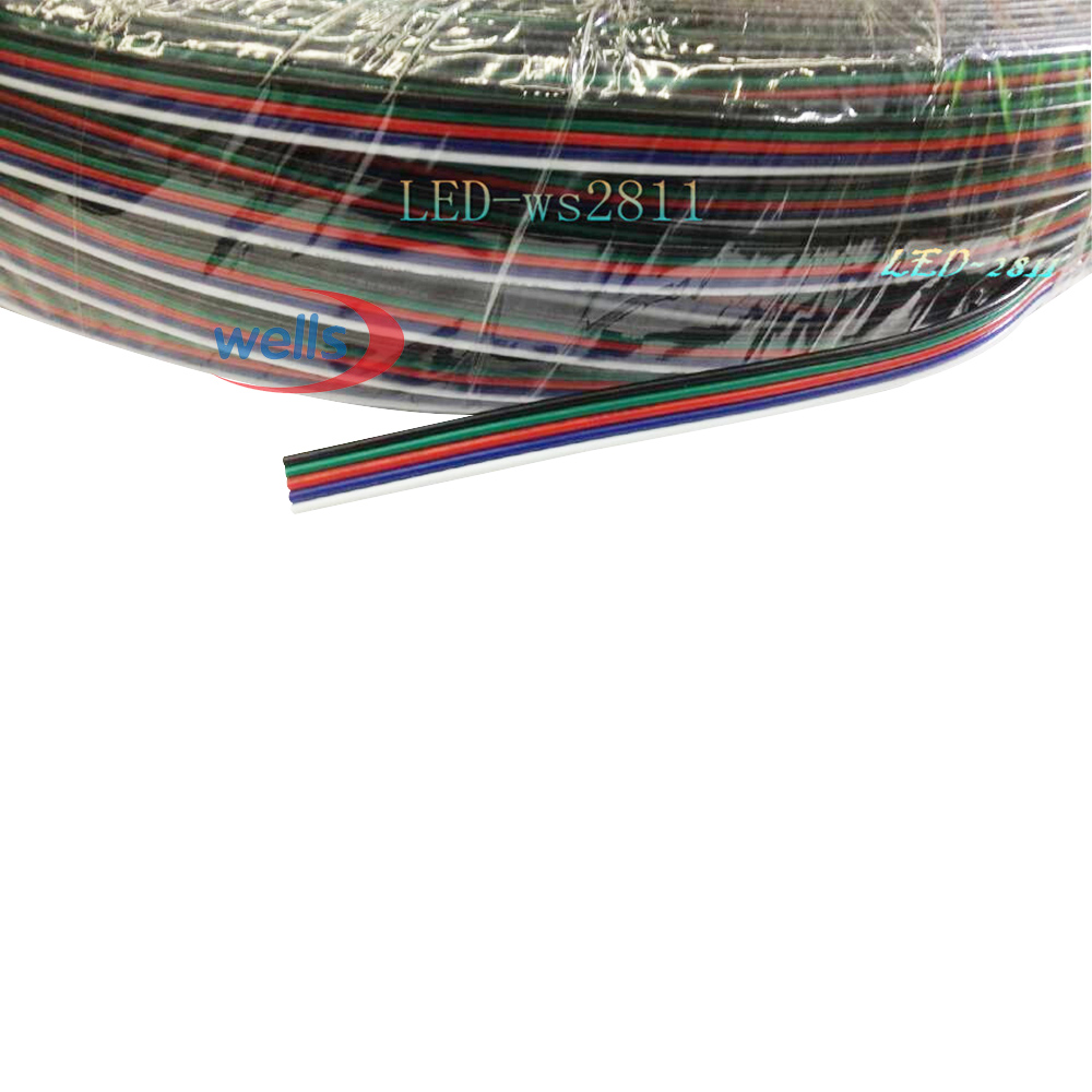 medium resolution of 10 meters 5pin extension electric wire cable blue white red green black led connector for rgbw 5050 3528 led stirp light 22 awg in connectors from home