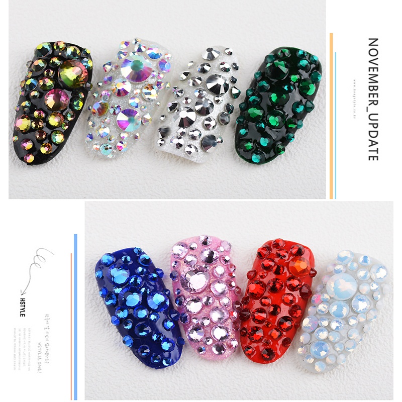 66c90f574f US $2.67 45% OFF|2028 Crystal Moonlight Glass Crystal Non Hot Fix  Rhinestone Non Hotfix Rhinestone Glitter Strass For Nail Art Decorations  B3422-in ...