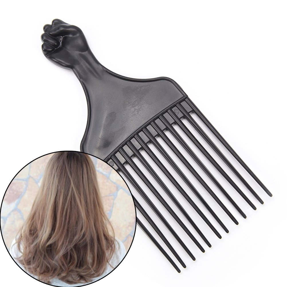 1 Piece Wide Teeth Brush Pick Comb Fork Hairbrush Insert Hair Pick Comb Plastic Gear Comb For Curly Afro Hair Styling Tools