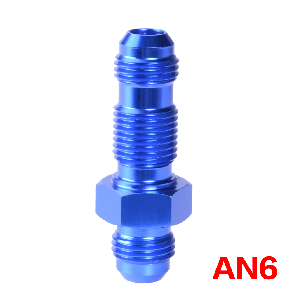 10AN AN10 Straight Bulkhead Fitting Adaptor Aluminum Black 10AN AN10 To