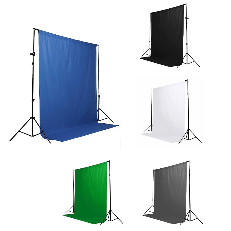 1pcs 1.8x2.7m 5Colors Screen wall Chromakey Backdrop Muslin Video Photo Background Photography Studio Background Photo Lighting white photography backdrop 300 400cm video photo photography lighting studio muslin background