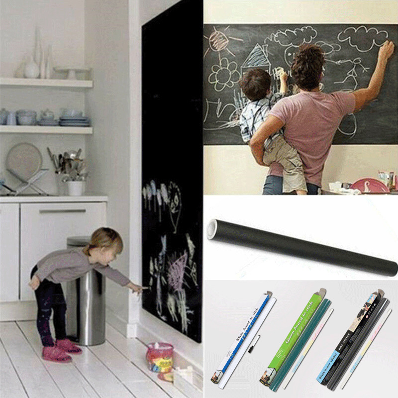 200x45cm Removable Blackboard Vinyl Wall Sticker Chalkboard Decal Chalk Board